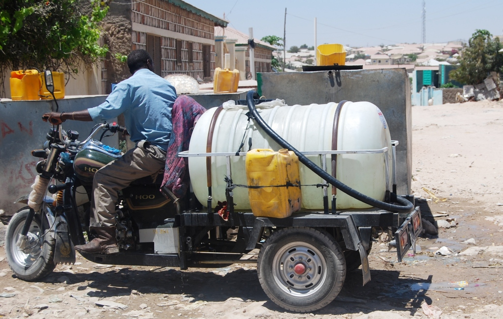 Bajaj Water tankers gradually negating Donkey drawn water distributors in Somaliland