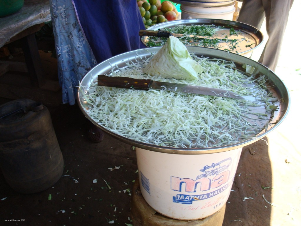 Freshly shredded cabbage (Photo Credit: Niti Bhan)